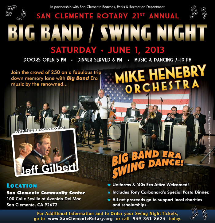 [SC Rotary Big Band / Swing Night flyer image]