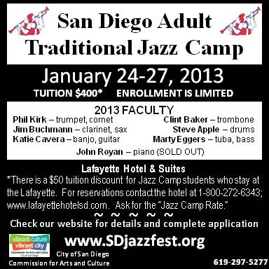 ad for SD Jazz Camp 2013