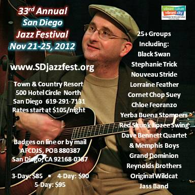 ad for SD Jazz Festival 2012